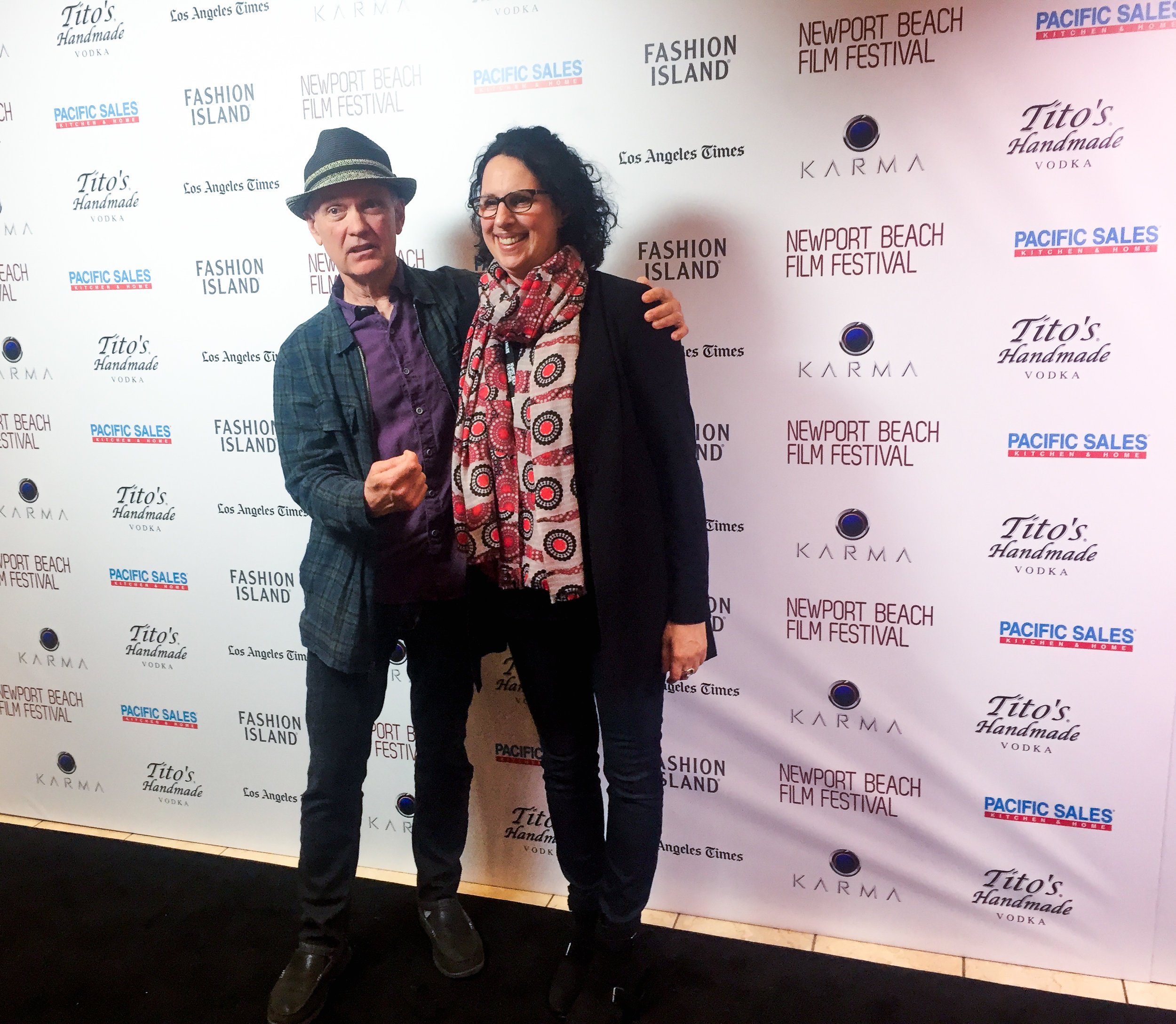 Director Lori Miller and Director of Photography Brian O'Connell pose for the camera pre-screening of  Day One .