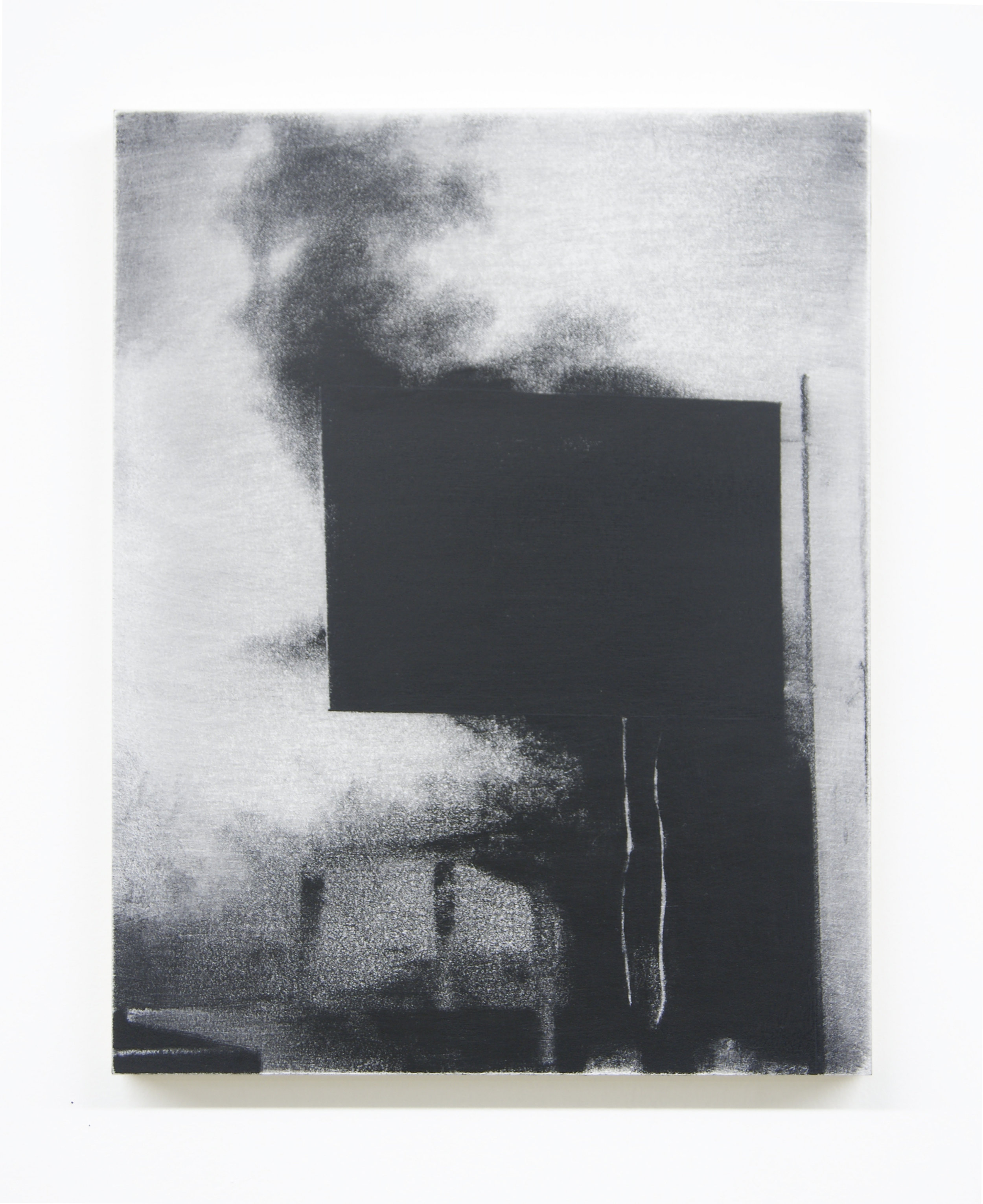Banner, 2015  Acrylic on panel, 14 x 11 inches