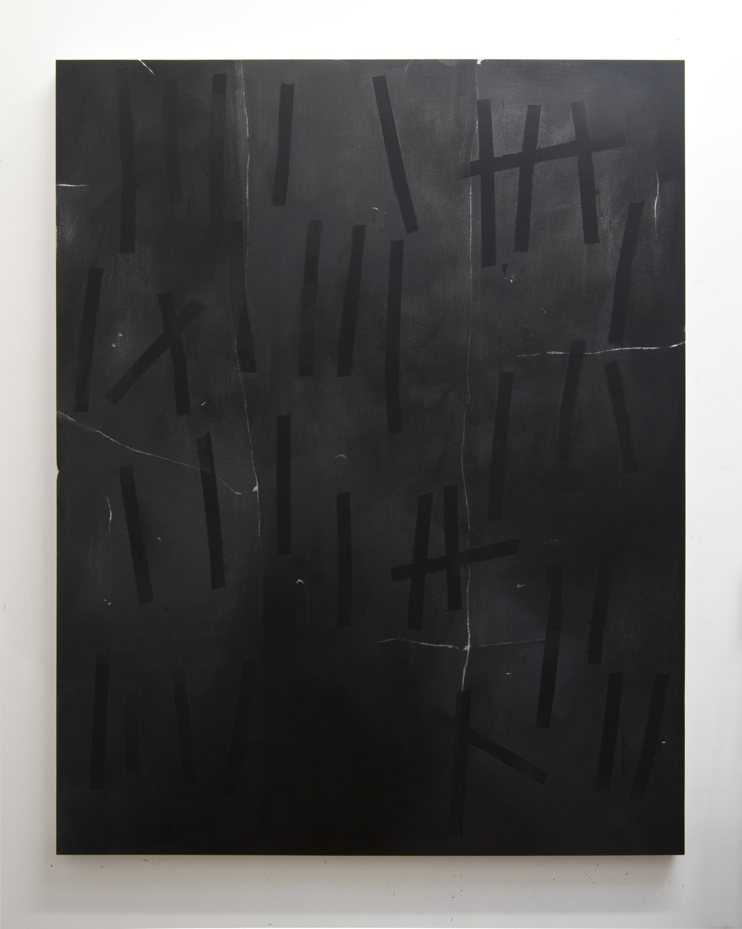 Cold Numbers, 2015  Acrylic on panel, 56 x 44 inches