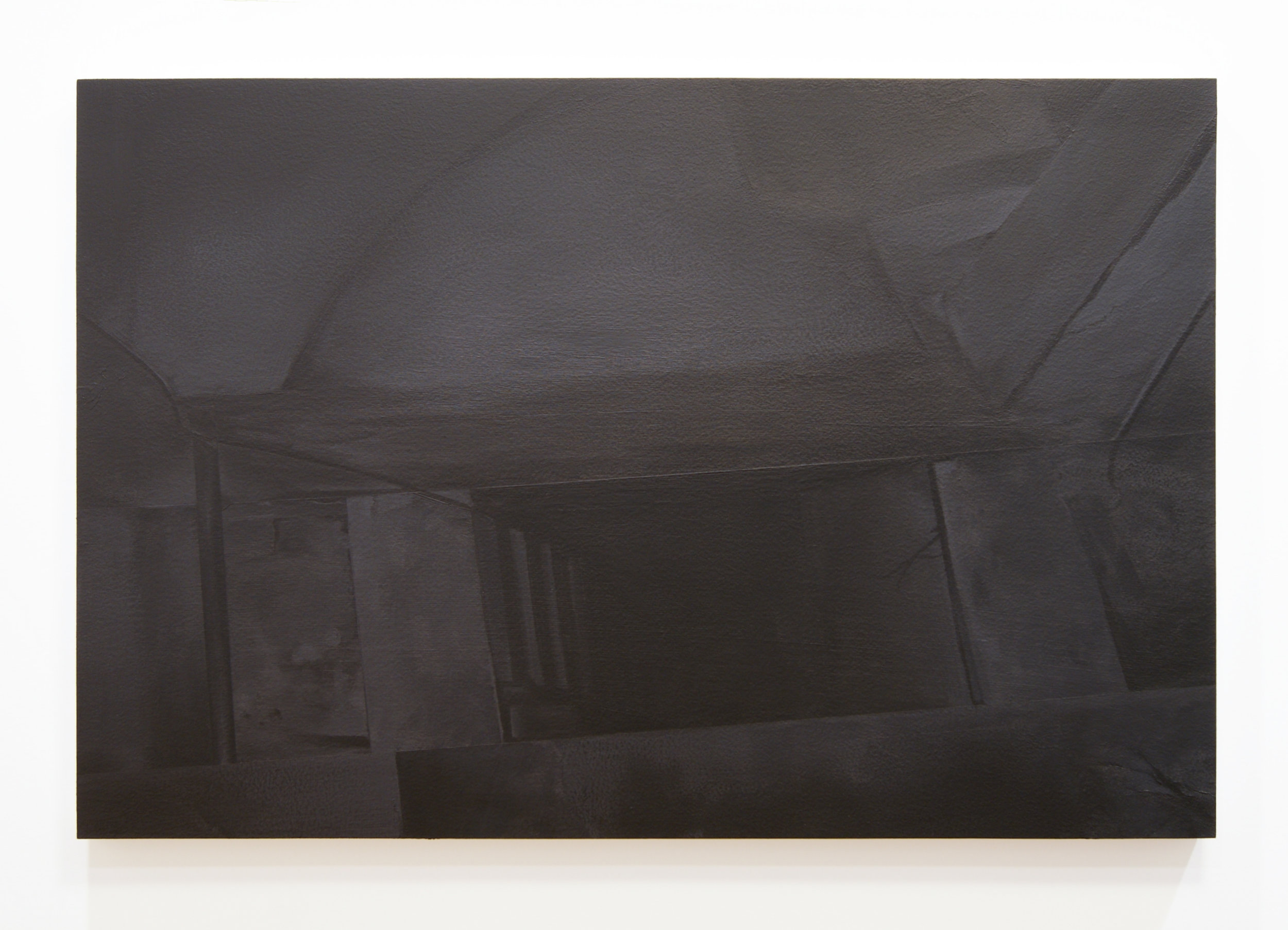 Hideout, 2015  Acrylic on panel, 24 x 36 inches