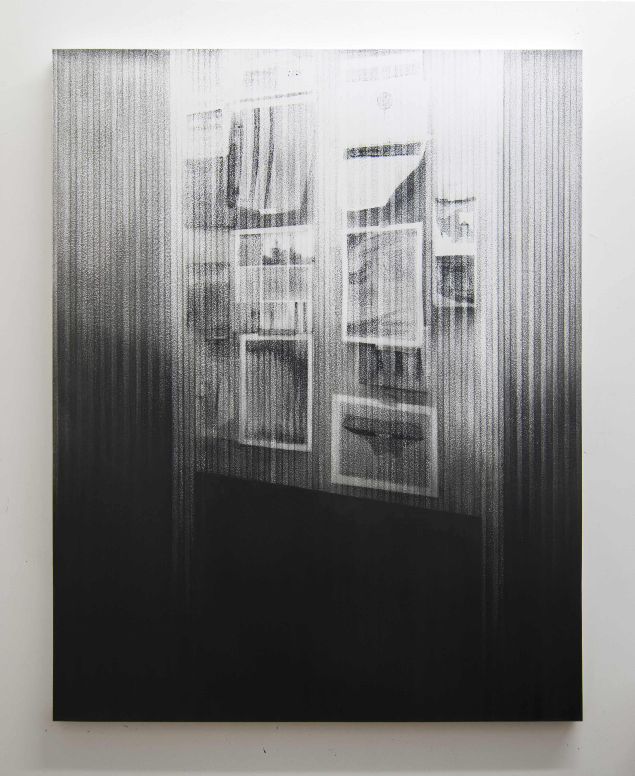 Watch List, 2015  Acrylic on panel, 56 x 44 inches