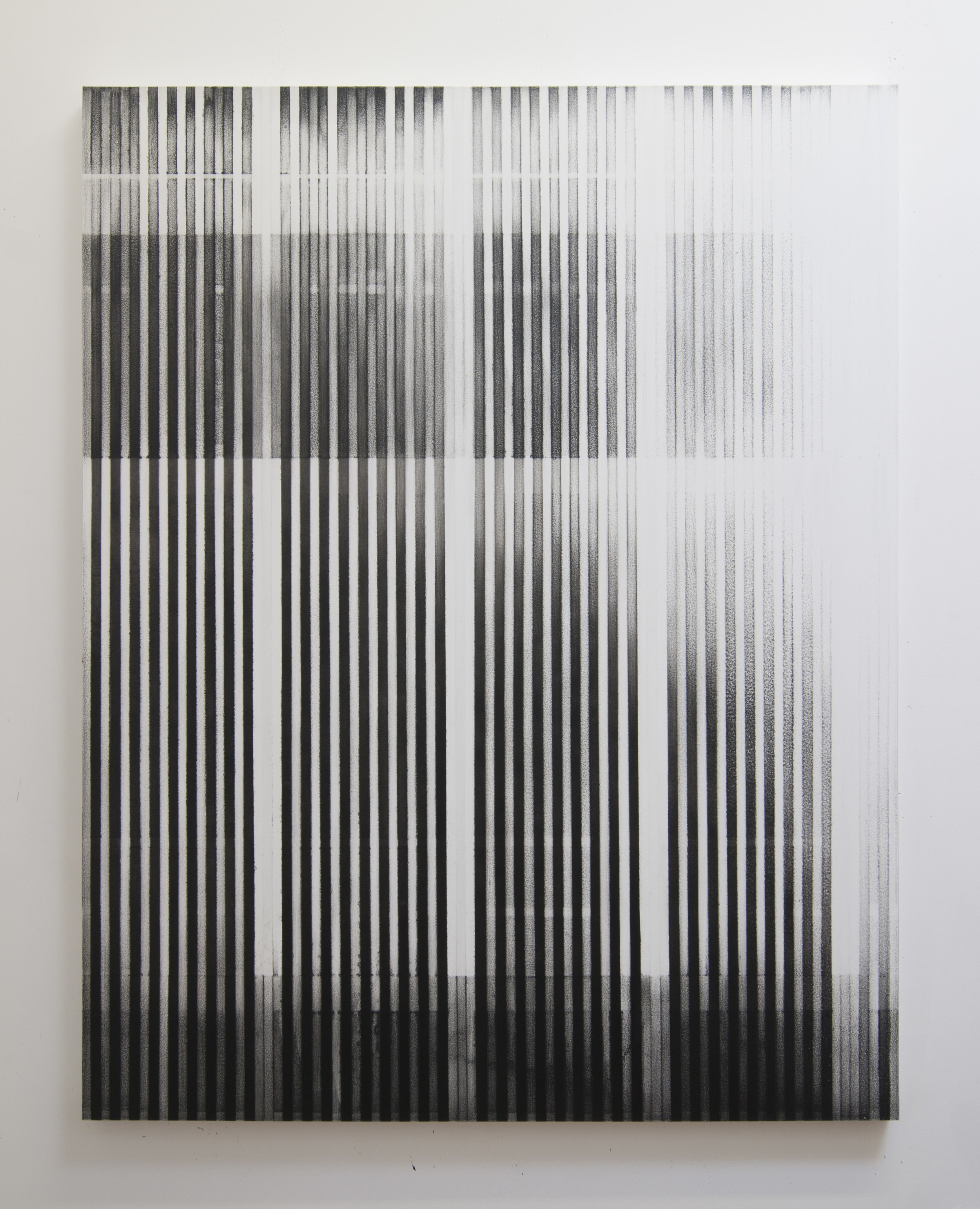 Slow Bleed, 2014  Acrylic on panel, 56 x 44 inches