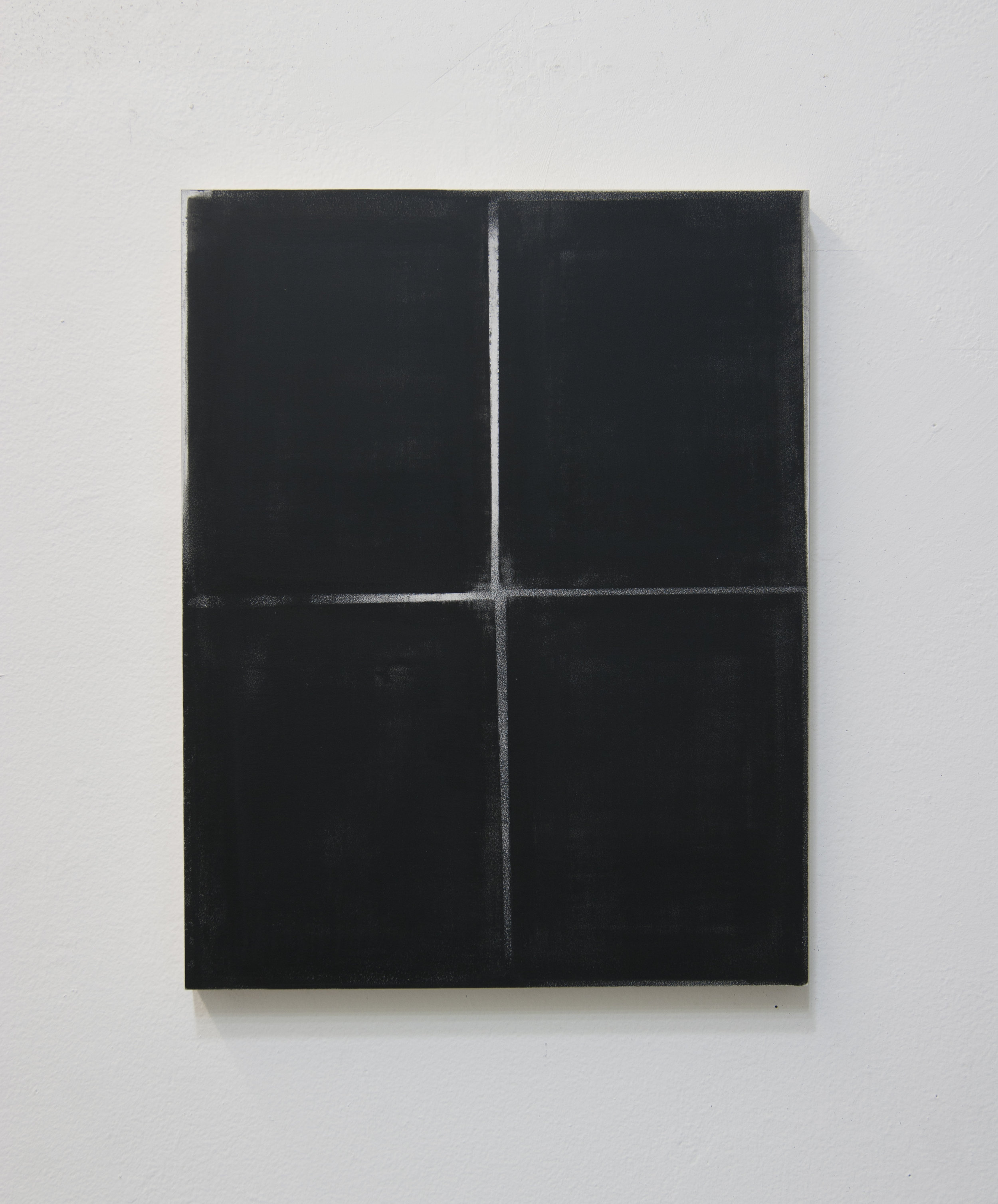 Untitled (Quadrants), 2012  Acrylic on panel, 14 x 11 inches