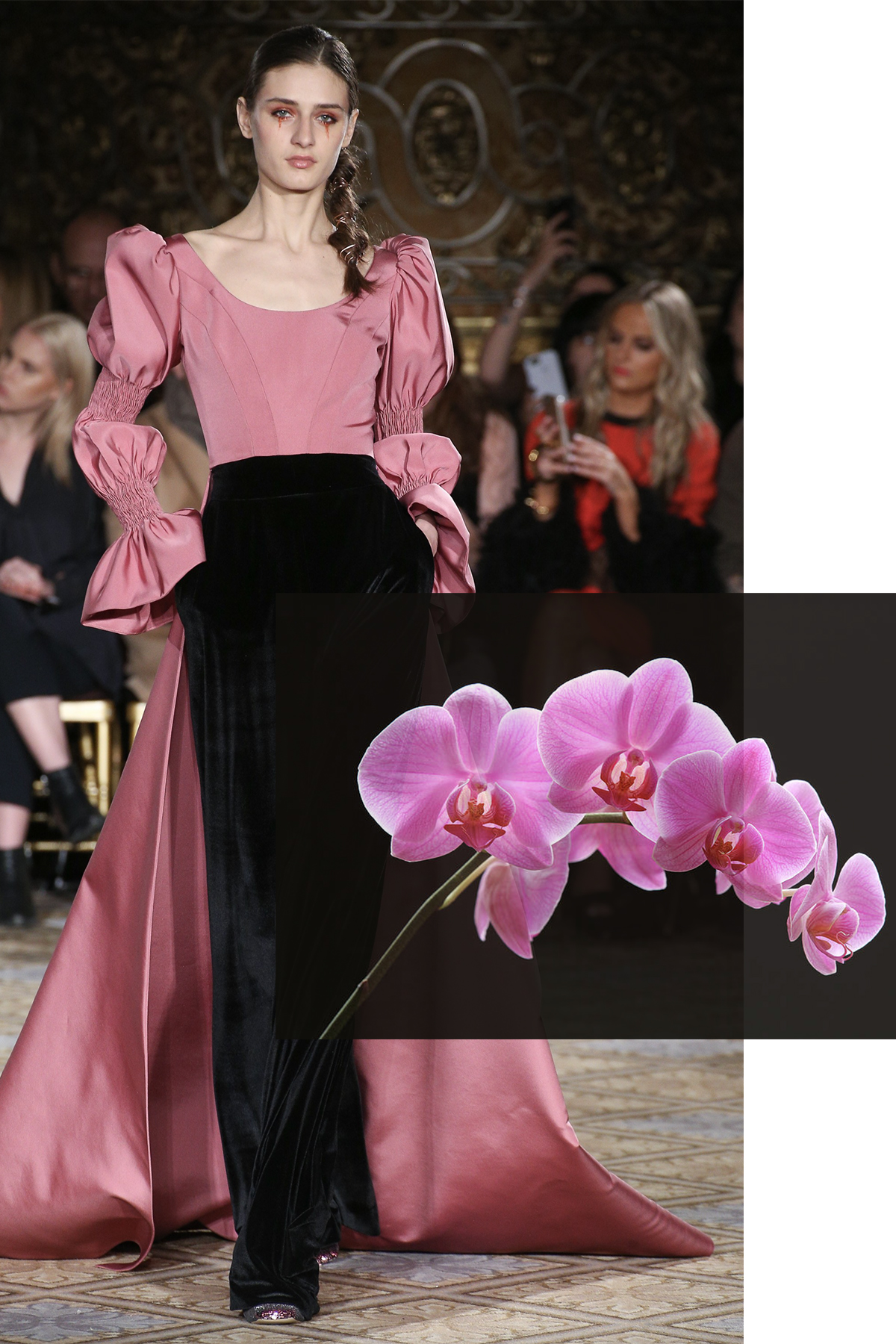 Christian Siriano paired with Orchid