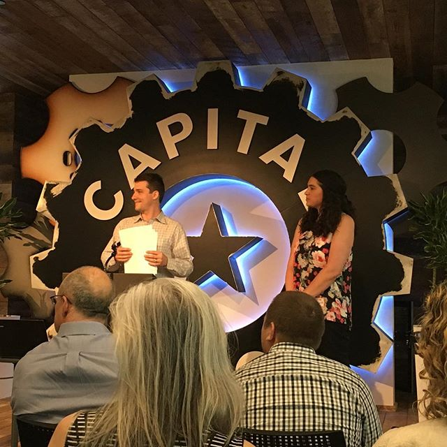 Our own Willie and Kathleen pitched their educational VR platform EdVentuRe at @capitalfactory last night. Lots of great feedback!
