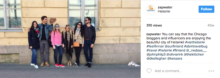 A video posted by Zapwater Communications (@zapwater) on May 19, 2016 at 5:54am PDT:   You can say that the Chicago bloggers and influencers are enjoying the beautiful city of Helsinki! #visithelsinki #feelfinnair @ourfinland #abmtravelbug #travel #helsinki #finland @_nedaaa__ @johnphilp3 @oliviarink @thekittchen @dkelleghan @kessara