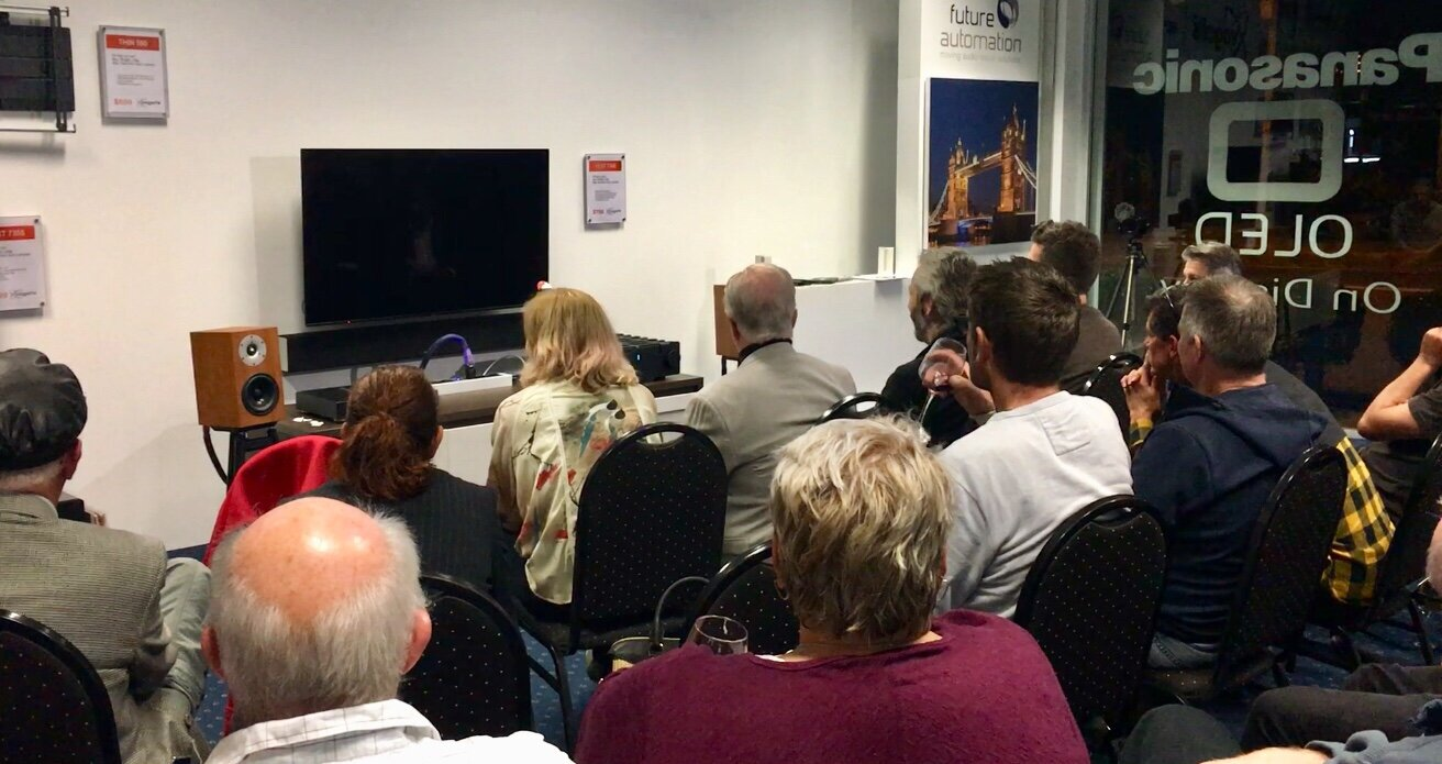 SoundStageAustralia's article on the   Live Recorded Music Evening at Sturmans AudioVisual. Guests:  Brigadier by Serhan+Swift, Pure Audio/Gary Morrison and Les Davis Audio/Les Davis. And the mighty audience!