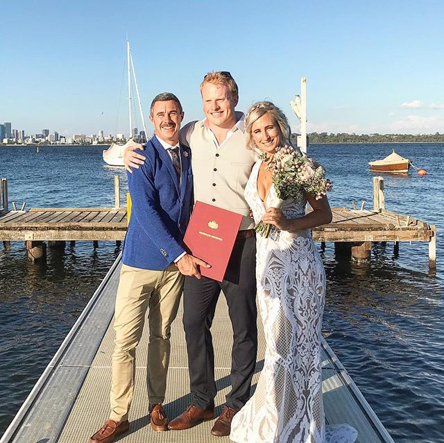 Such an incredibly proud moment being able to marry two of my best mates! So much love between these two and so many more incredible times to come #friends #family #perthwedding #love #perthcelebrant #celebrant #waisok #unforgivingminute