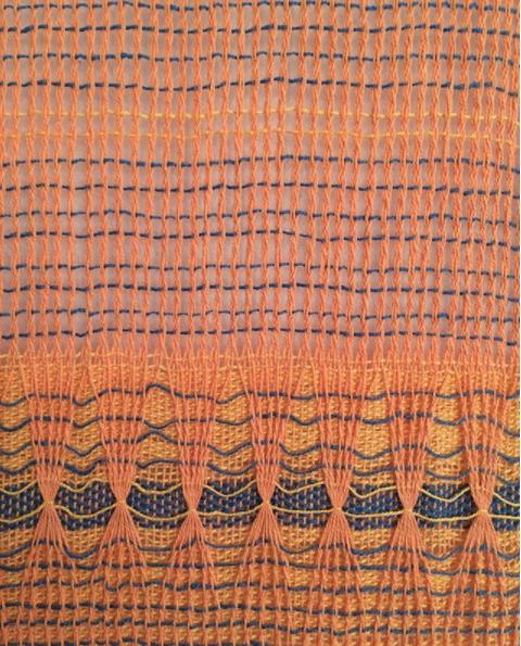 Rachel's weaving that was showcased for the 'La Puissance' exhibition in June 2017.