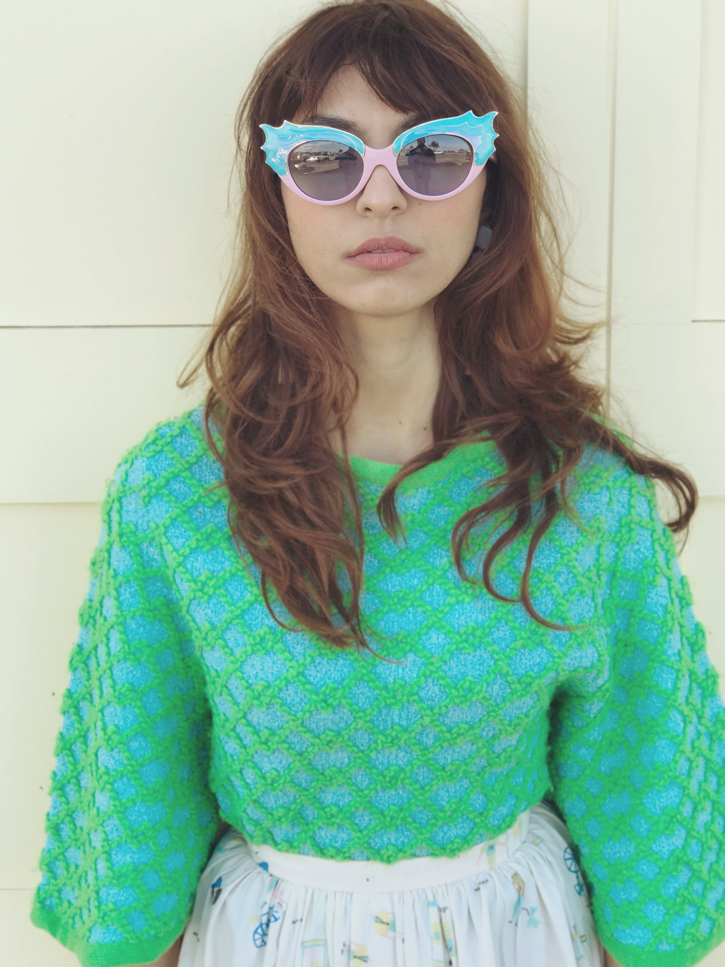 Vintage 70's terry Cloth Sweater
