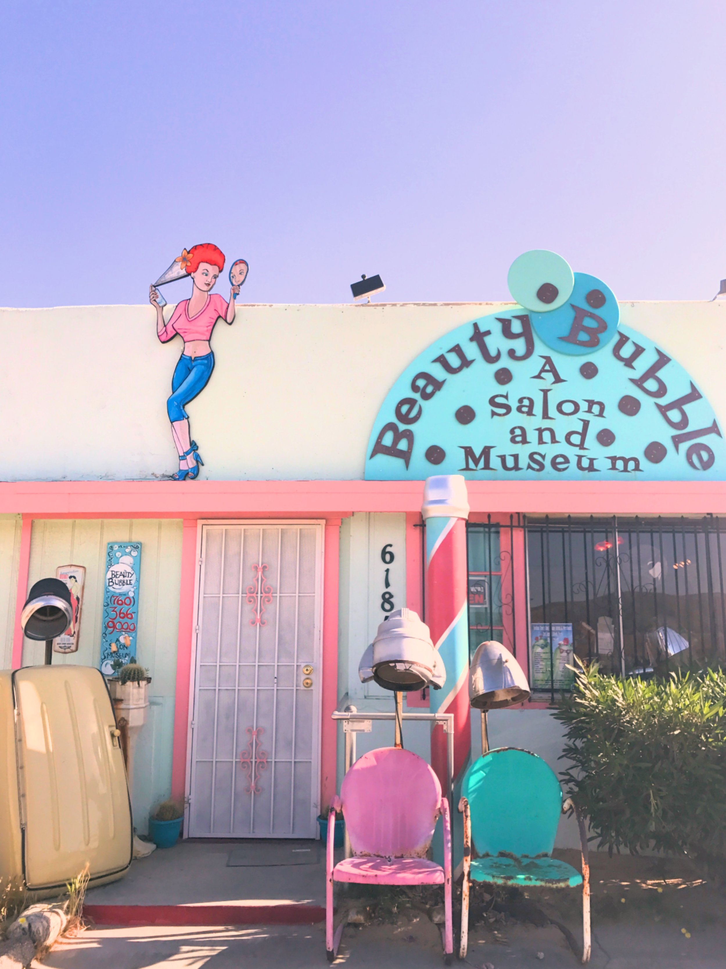The front of the Beauty Bubble Salon and Museum