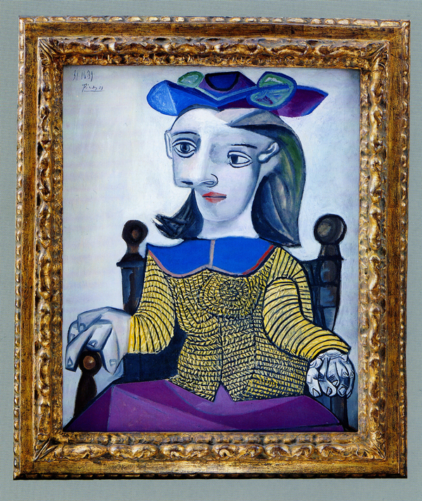 Pablo Picasso  The Yellow Sweater,  1939,   in a Spanish 17th-century frame
