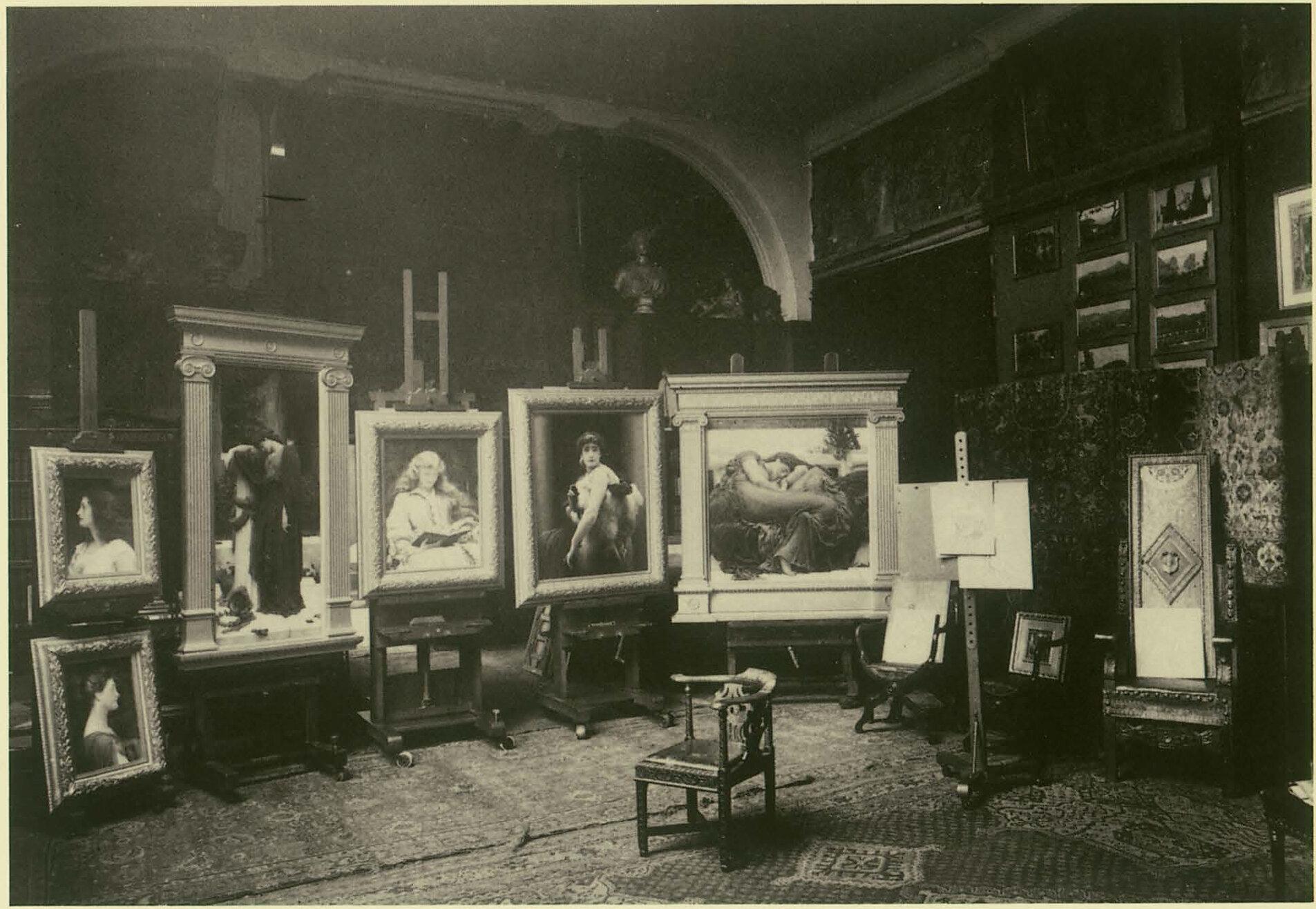 Lord Leighton's studio, 2 Addison Road, Kensington, London 1895. Photography courtesy National Monument Records.