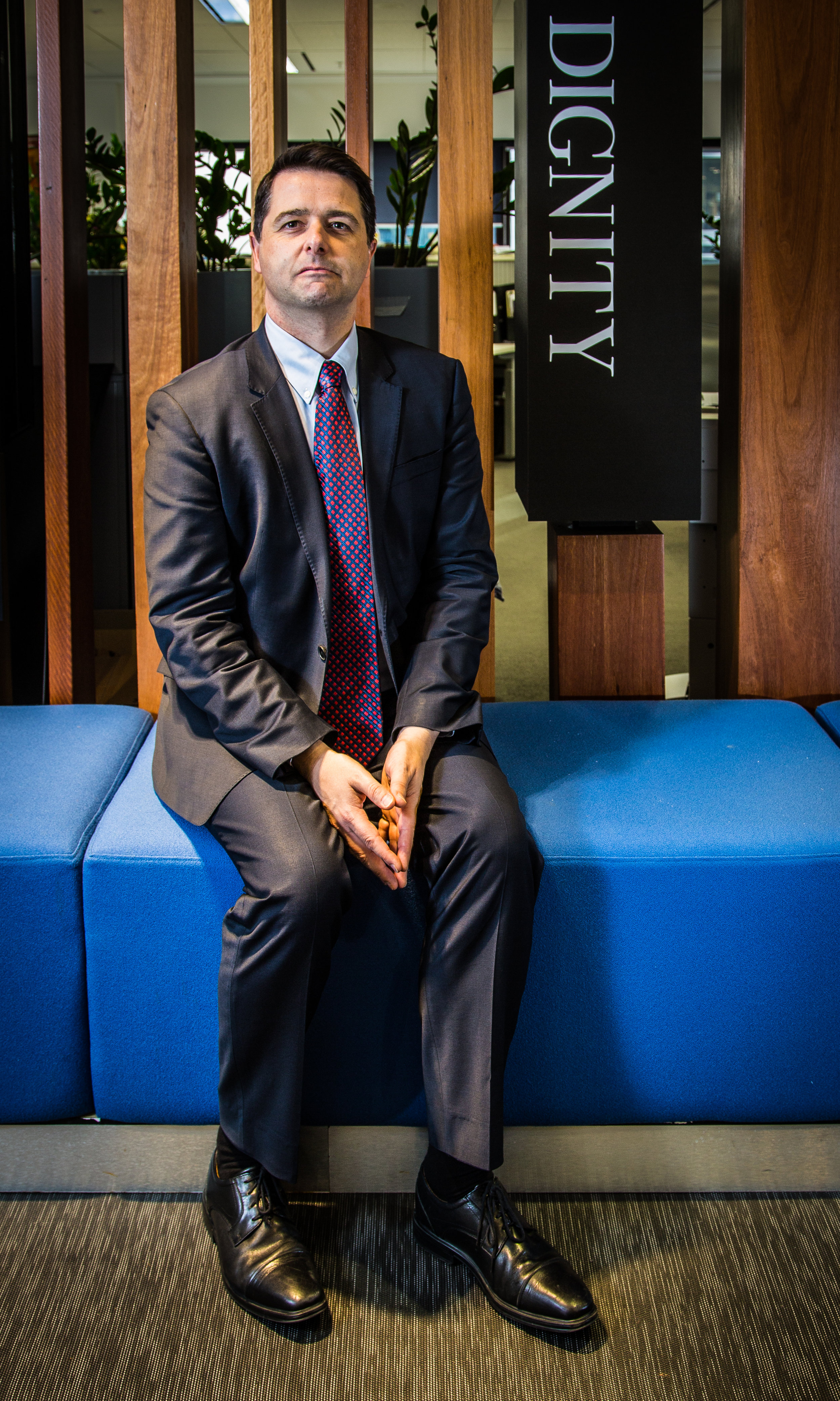 Alastair McEwin in the offices of the Australian Human Rights Commission in Sydney.