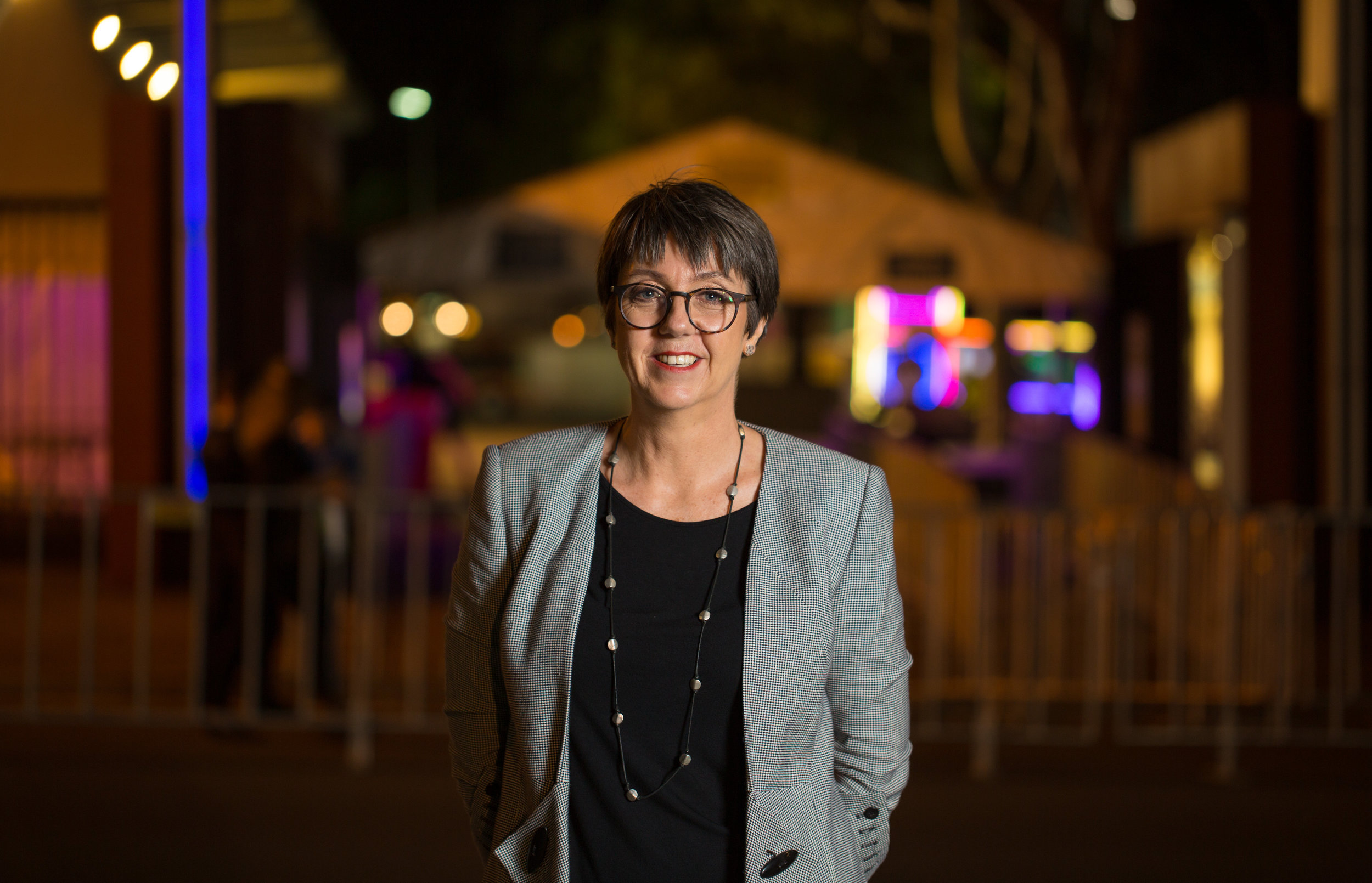 Vicki is pictured here working for  Fair Play  at the 2019 Mardi Gras.  Fair play  is an LGBTIQ community initiative which helps party-goers understand their legal rights and how to keep safe during the Mardi Gras Festival.