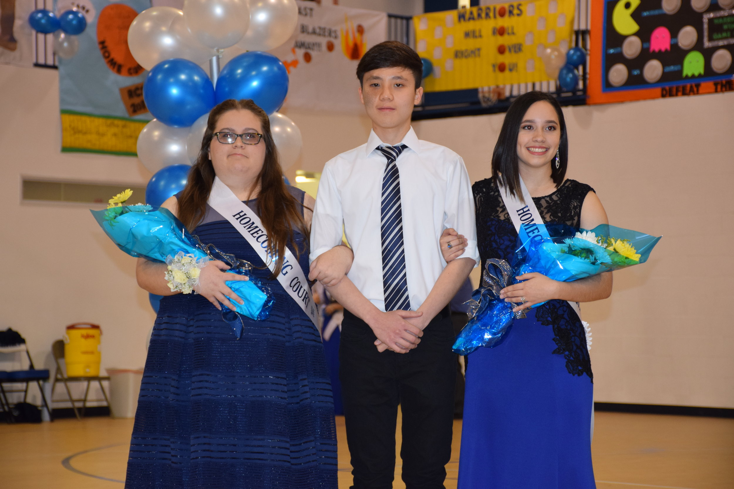 Jessica Heath, Dat Huynh & Deliyanis Rosa -Homecoming Court