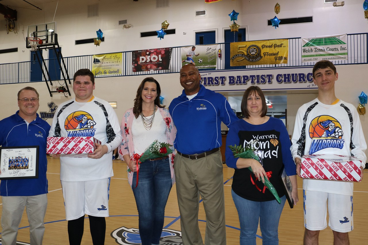ATHLETIC BOOSTERS - Every successful athletic program needs the support of Athletic Boosters. Whether it is purchasing a banner to hang in our gymnasium, purchasing special courtside seat, or helping out during game days, we lean much upon those who support our Athletic Program.A special thanks to all of our courtside and banner members!Courtside Members: Jeff and Sherri Dodd, Shawn and Lani McDaniel, Zoila Sehwerert, Sandy and Diane Whetherholt, Tim and Debbie Vanderveer, Chris and Rosanna Gulotta, Anthony DeSanto, Latrell Statham, Scott and Becky French, Joye Nichter, and The Alexander-Terrell FamilyBanner Members: South Shore Signs, Meek Insurance, Welch Tennis Courts inc., Uregius Family, Dance Shoes Online, and South Bay Dentistry