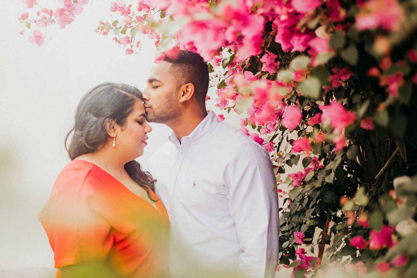 Home Flowers Couple Engagement Pre-Wedding Photography Session Bahrain