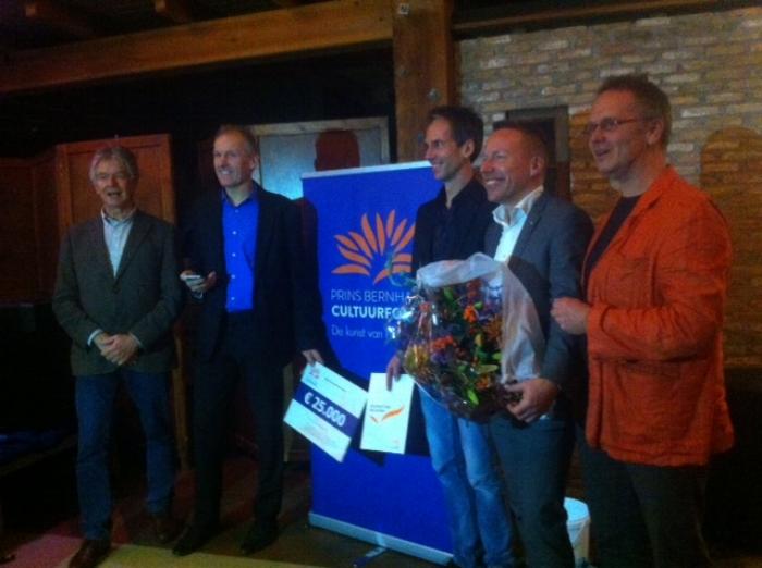 Van links naar rechts: Hans Brons, Rob Janmaat, Bas van Vliet, Patrick Jansen en Hugo Hoofwijk