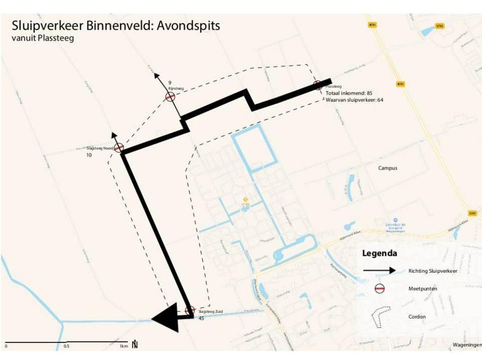 Route Mansholtlaan/Campus-Kanaalweg: Avondspits in het Binnenveld