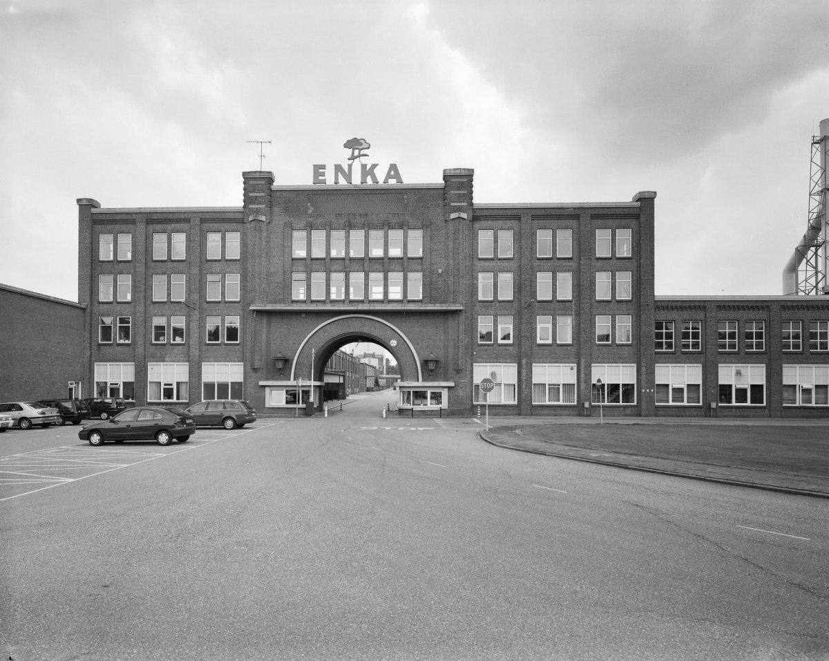 Voormalige poortgebouw Enka Ede. Foto: Rijksdienst voor Cultureel Erfgoed