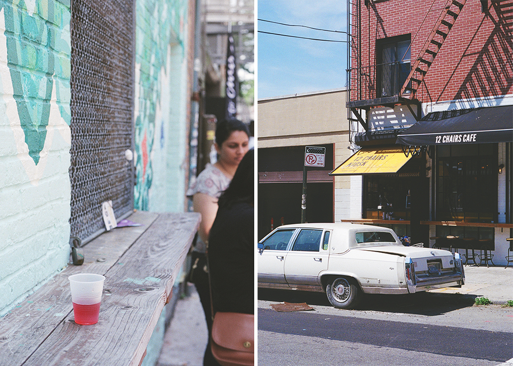 12 Chairs Cafe , one of many brunch places in Williamsburg that locals and tourists go to. This place combines Middle East flavours with Eastern European cuisine, a welcoming twist to your usual avocado sourdough toast. I had freshly squeezed orange juice and Shakshuka there. Both were great.