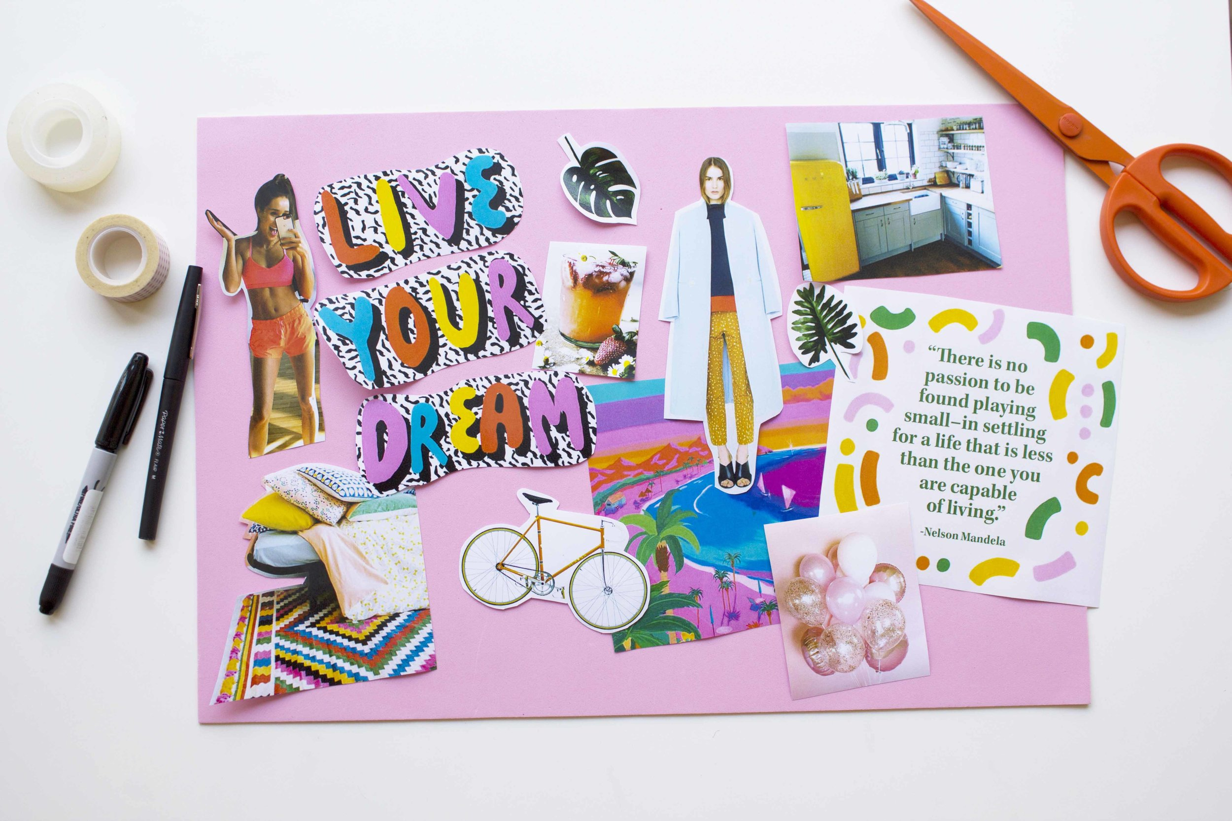 at the beginning of the year We created vision boards.