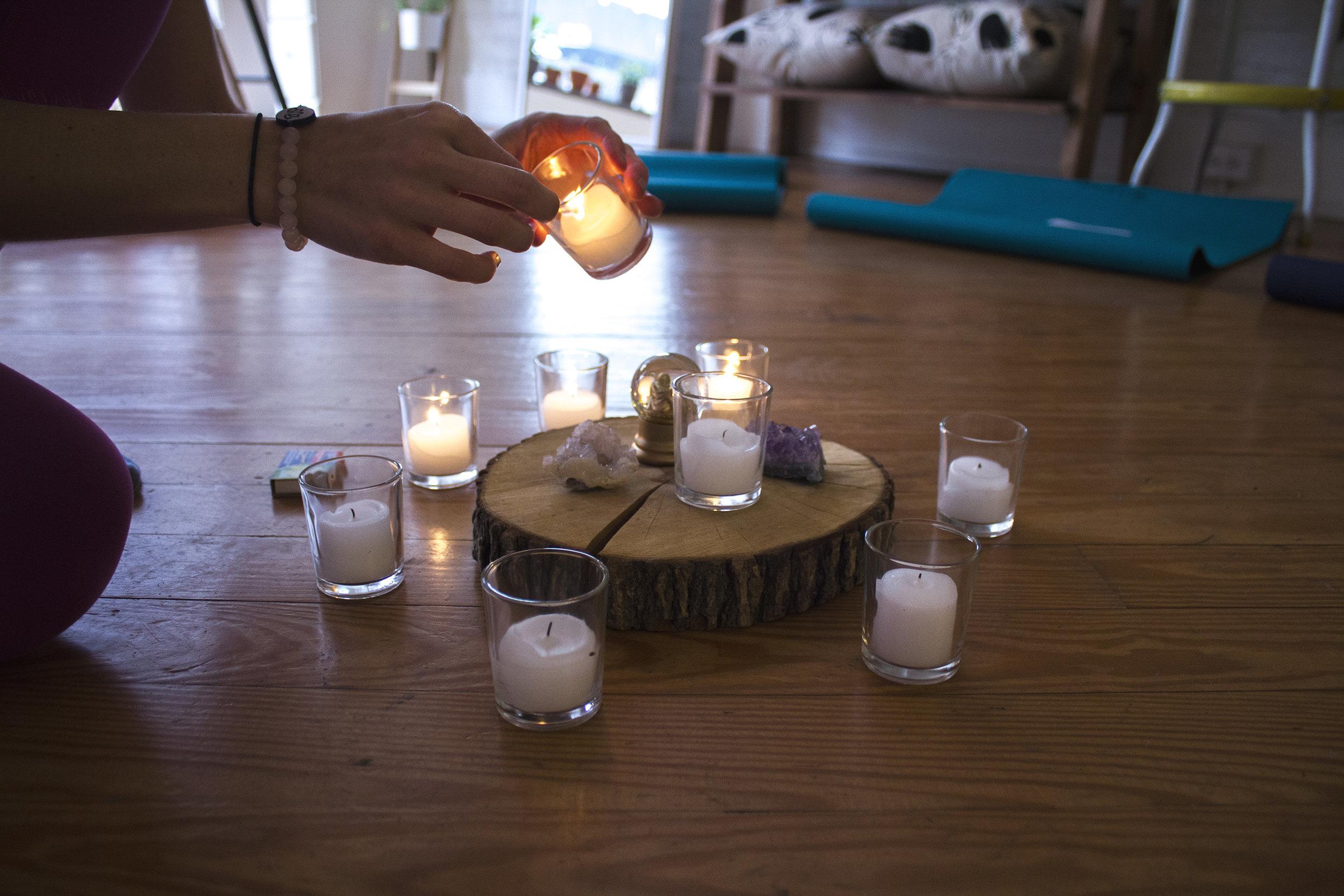 We had meditation workshops with our friend, Mija!