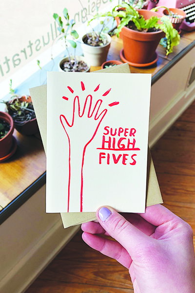 Day 17: Sending   all the high fives   to my sis as she finishes school!