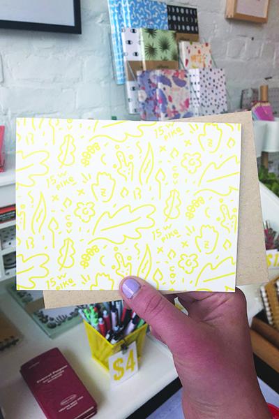 Day 19: A handmade card for my dear Brittney :)