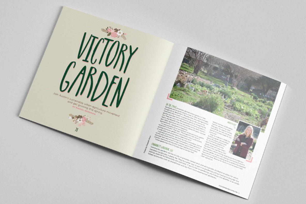 Layout design and custom illustration for April 2014  Austin Woman  magazine