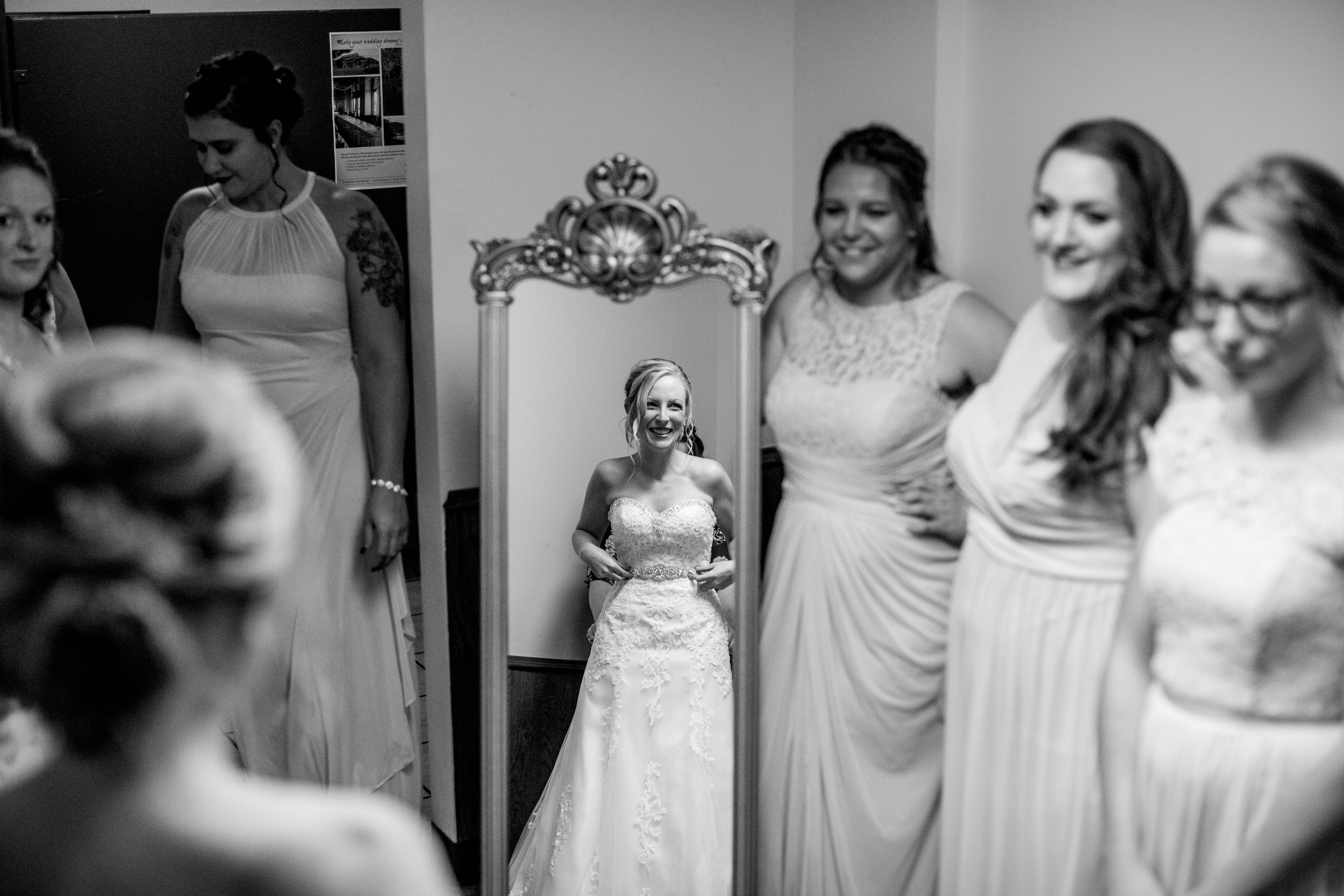 Bridal Portrait: Bridesmaids First Look - Hove Photography LLC - Destination Wedding Photographer