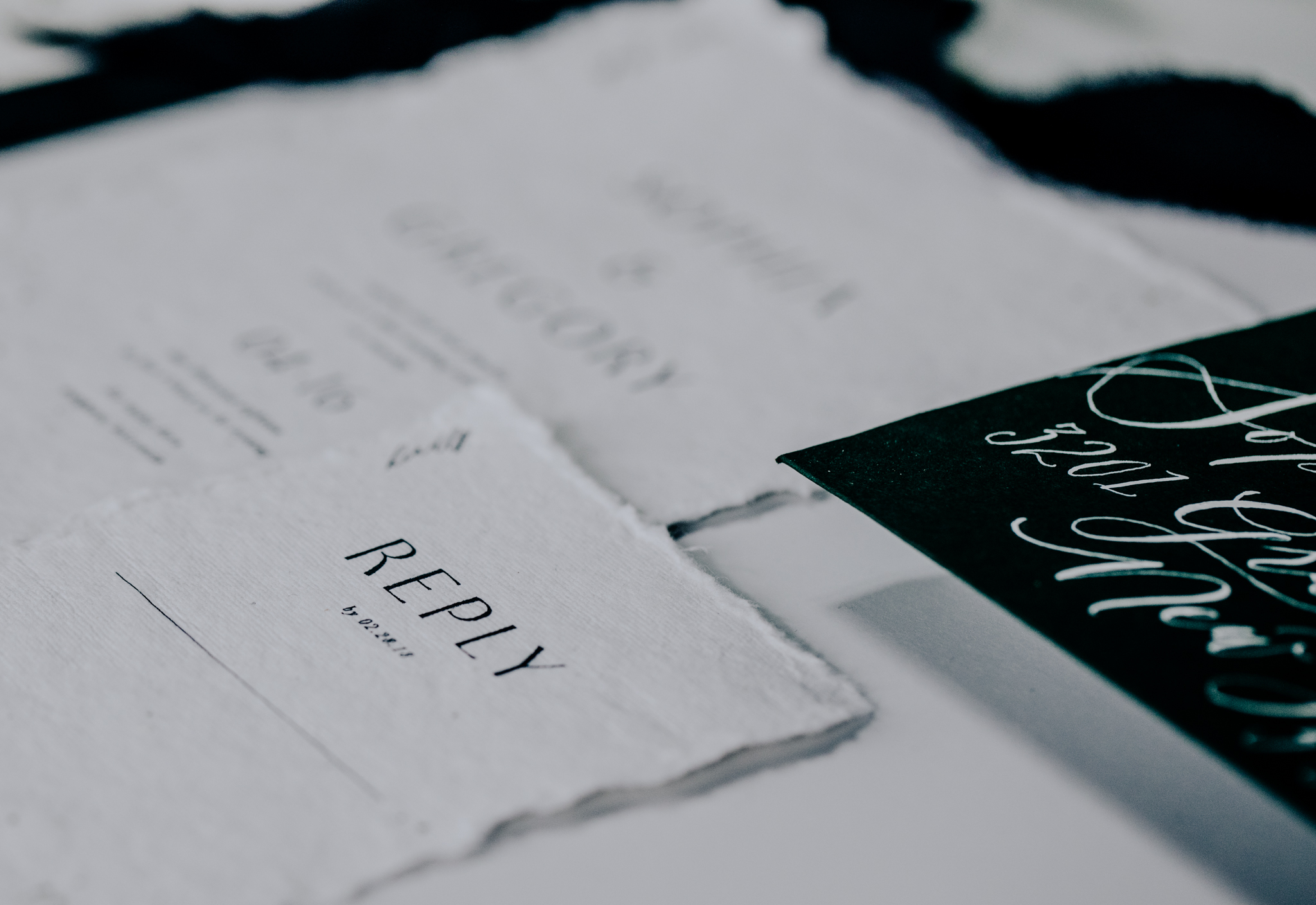 Custom Wedding Invitation - Calligraphy - Saffron Avenue - Hove Photography