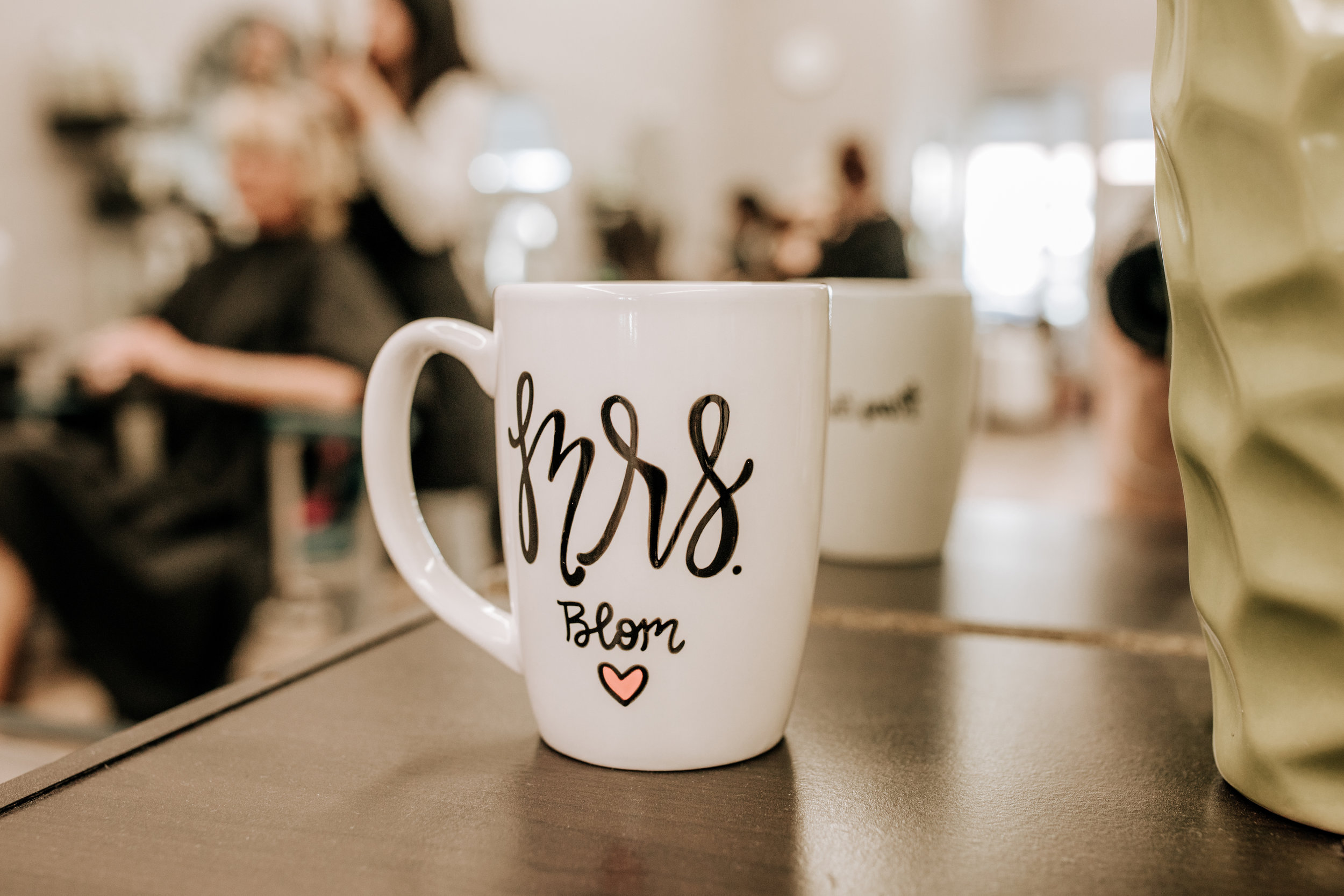 Custom Mrs Mug - Calligraphy - Bride Gifts - Sturgeon Bay WI - Wedding Photographer