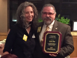 From left to right : Erika Flint and Cal Banyan. Erika Flint was awarded the 2015 5-PATH® Hypnosis Leadership award