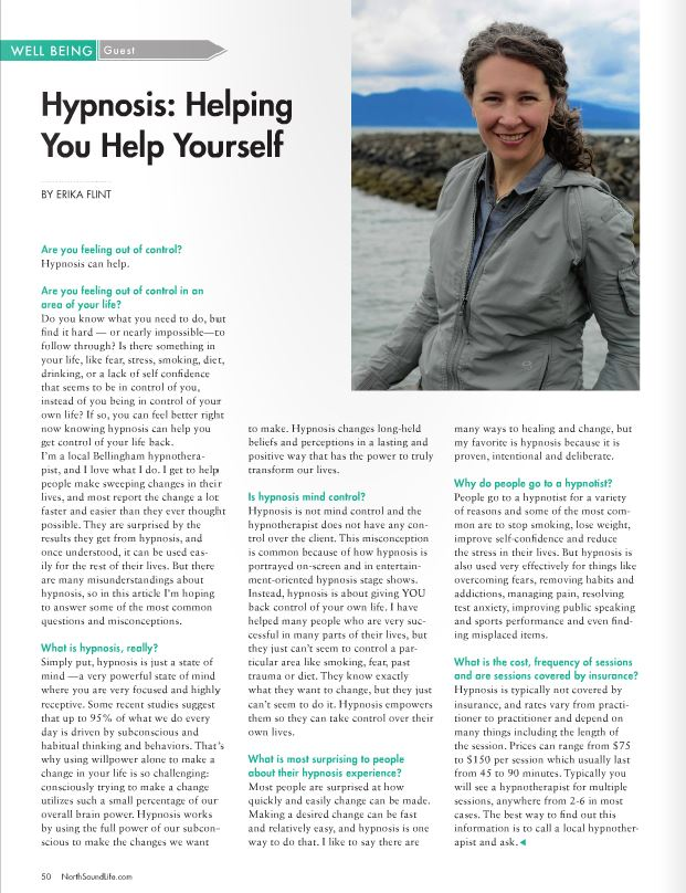 Hypnosis: Helping You Help Yourself by Erika Flint