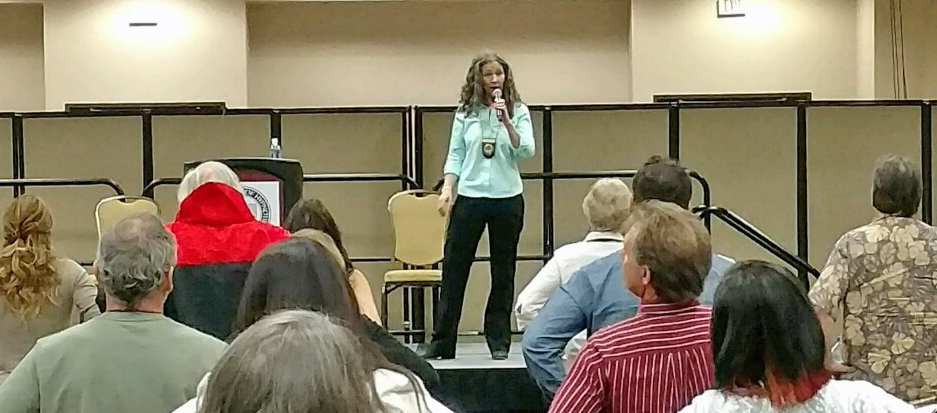 Erika Flint Speaking at the National Guild of Hypnotists Solid Gold Event