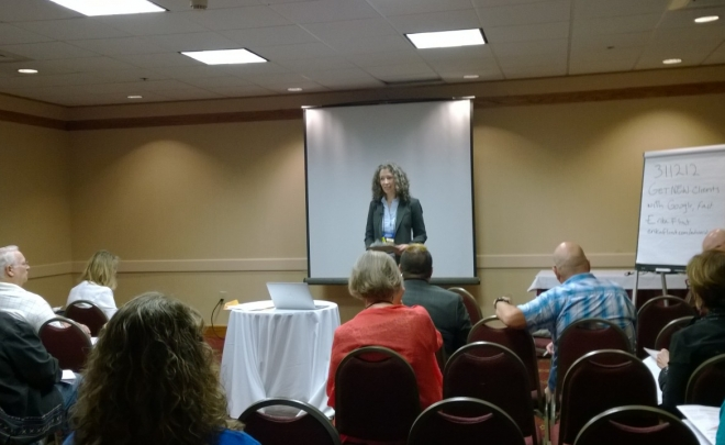 Erika Flint presenting at the 2014 NGH Convention
