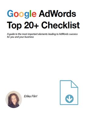 Google AdWords Top 20+ Checklist
