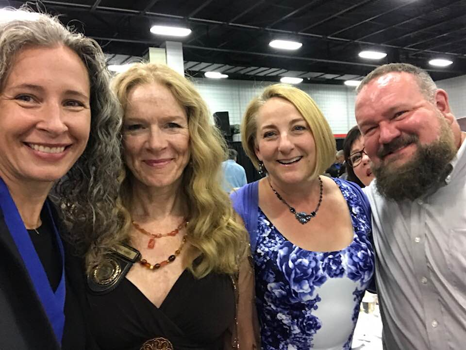 From the awards dinner at the National Guild of Hypnotists in Boston with fellow hypnotists Kathie Hardy, Paulette Neeson Deckers, Lawrence Winnerman and photo-bombing Maureen Banyan! -