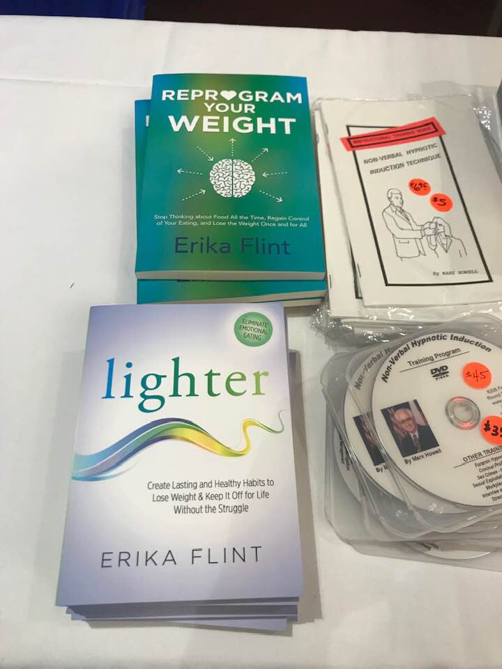 """Sold out! My copies of """"Lighter"""" and """"Reprogram Your Weight"""" flew off the shelves of the NGH book store and sold out entirely. I'll need to bring more next year! -"""