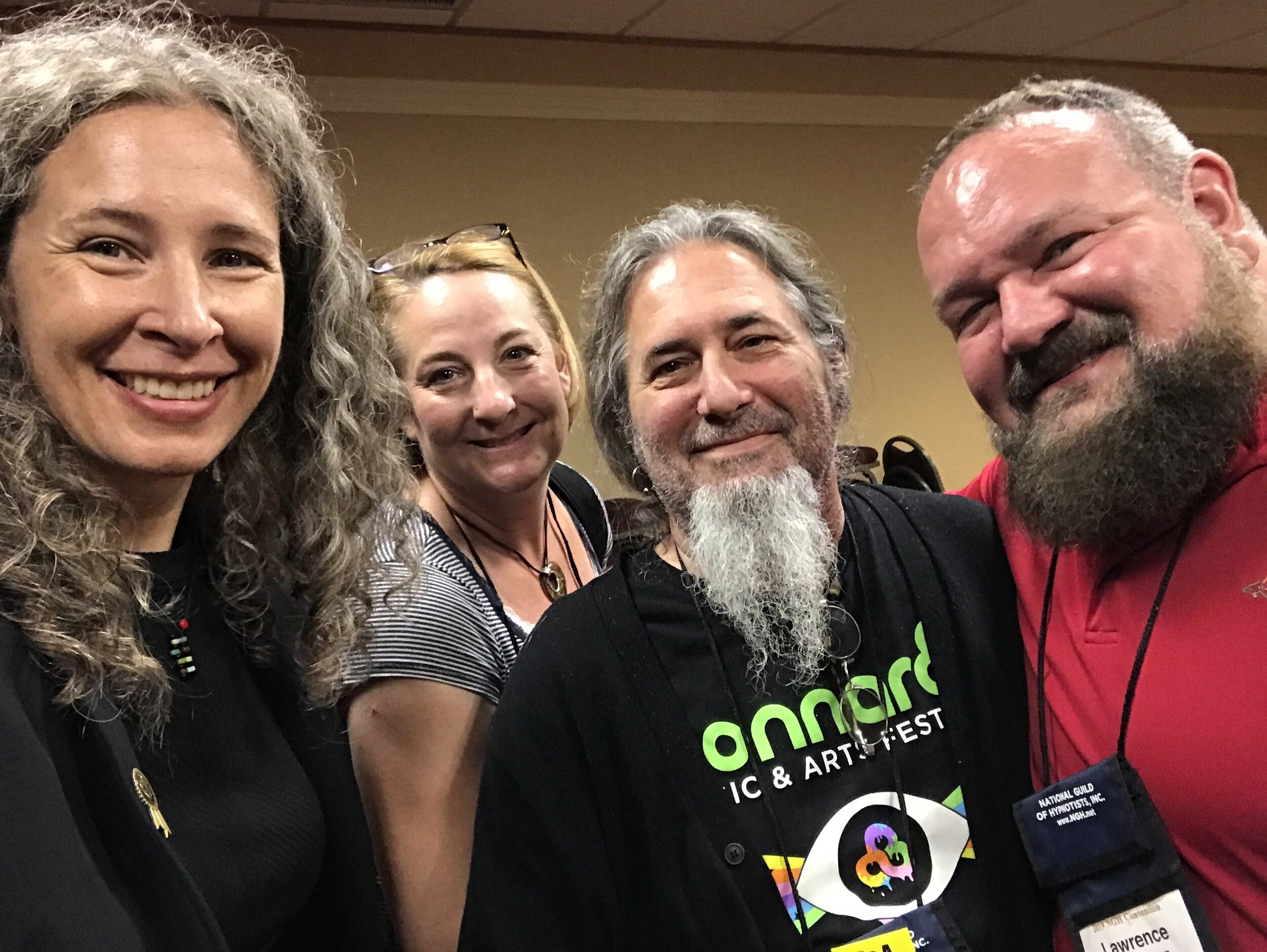 Erika Flint with grads at the NGH convention: Paulette Deckers, Dillion Sims, and Lawrence Winnerman. Not pictured: Kathie Hardy, and Tracy Kim