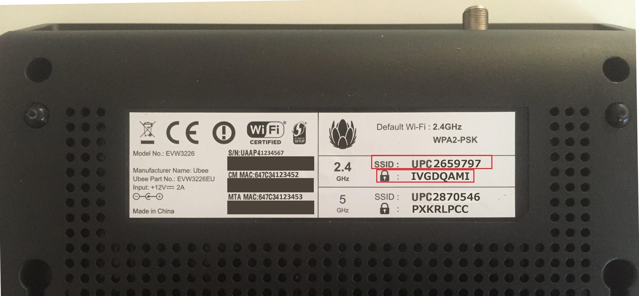 wifi ssid broadband box