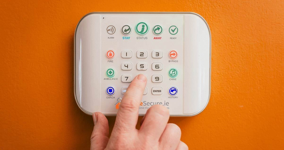 home alarm pack, free key fob, alarm panel, smart phone