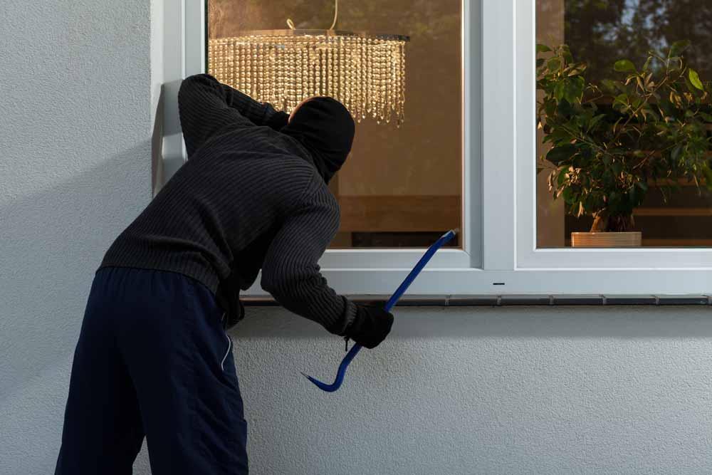 burglar looking into home
