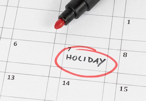 holiday on calendar