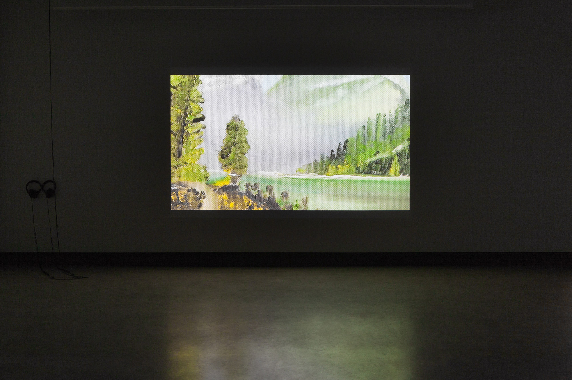 © Jo-Anne Balcaen, Mount Rundle  (2014). Exhibition view. Photo: Marilou Crispin.
