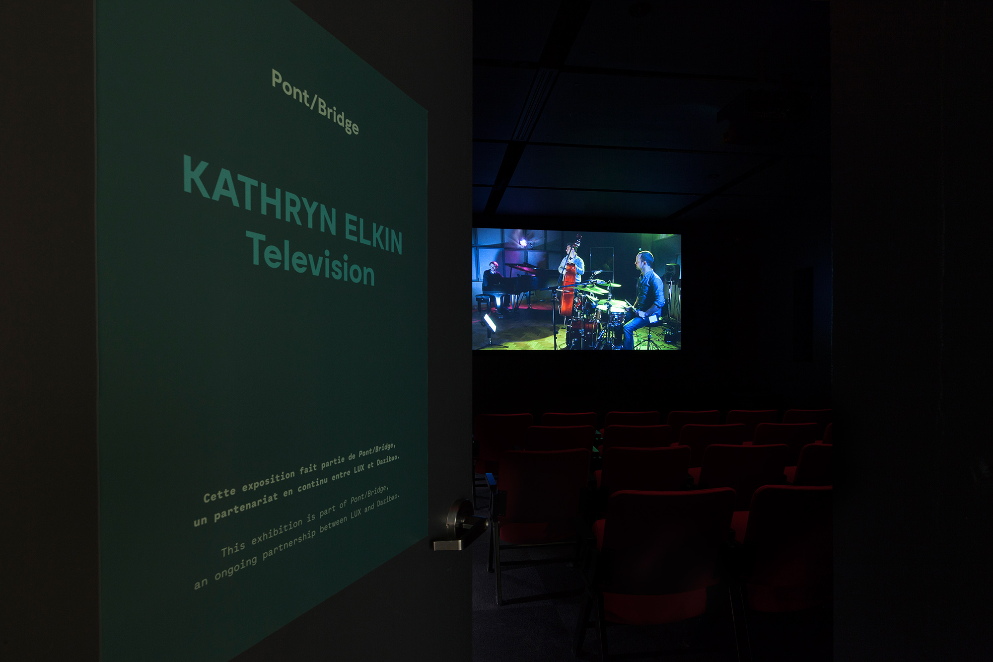 © Kathryn Elkin,  Michael's Theme  (2014). View from the exhibition  Television . Photo: Marilou Crispin.