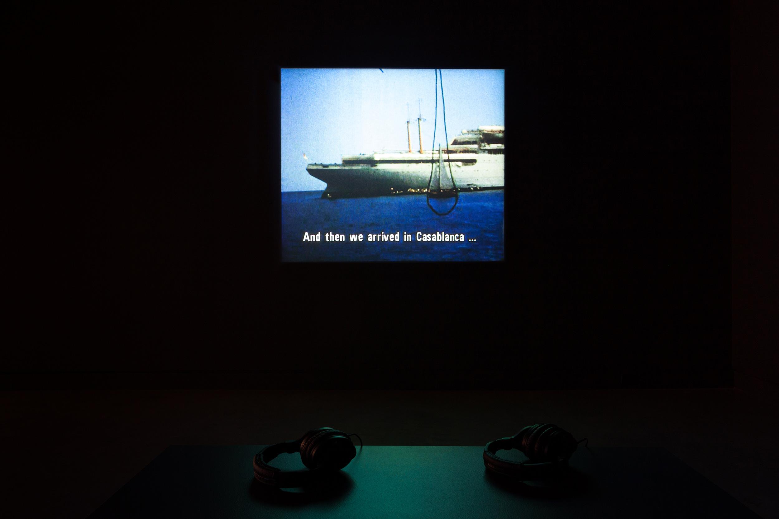 ©Lisl Ponger, Passages (1996).Exhibition view.Photo: Marilou Crispin.