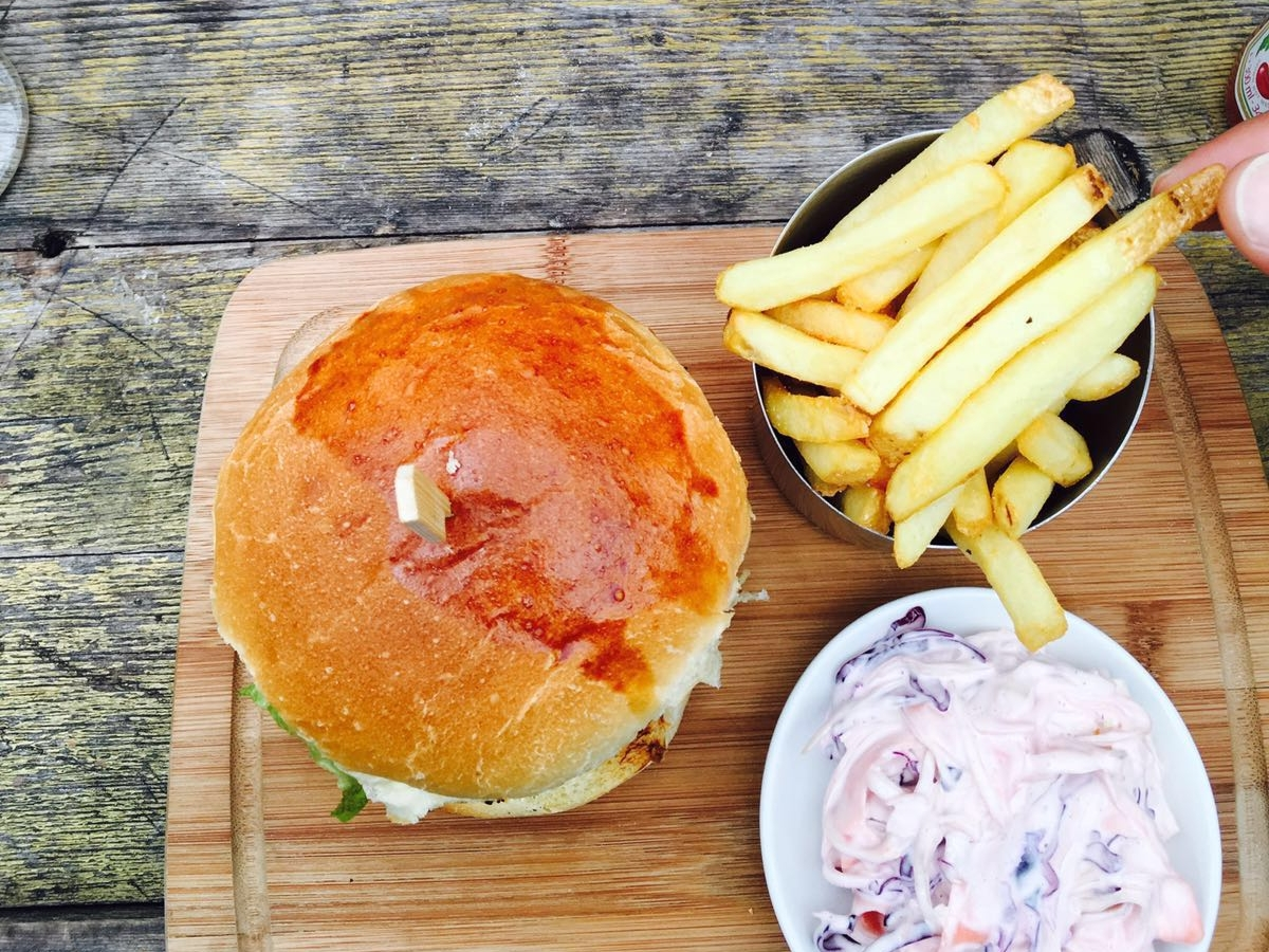 Come try our delicious homemade burgers.